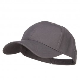 New Big Size Deluxe Cotton Cap - Charcoal