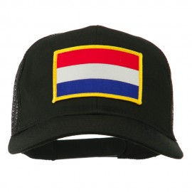 Netherlands Flag Patched Mesh Cap