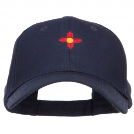 New Mexico Flag Logo Embroidered Low Cap - Navy