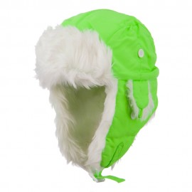 Neon Faux Fur Aviator Trooper Hat