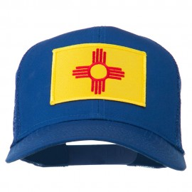 New Mexico State Flag Patched Mesh Cap - Royal