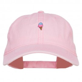 Mini Ice Cream Embroidered Washed Cap