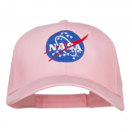NASA Insignia Embroidered Cotton Twill Cap - Pink