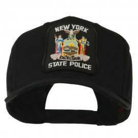 New York State Police Patched Twill Pro Style Cap - Black
