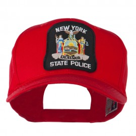New York State Police Patched Twill Pro Style Cap - Red