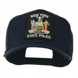 New York State Police Patched Twill Pro Style Cap - Navy