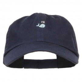 Mini Whale Embroidered Low Cap