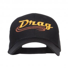 Drag Embroidered Cotton Twill Cap