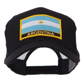 North and South America Flag Letter Patched Mesh Cap - Argentina
