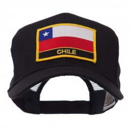 North and South America Flag Letter Patched Mesh Cap - Chile