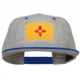 New Mexico Flag Embroidered Wool Blend Two Tone Cap