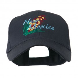 USA State Flower New Mexico Yucca Embroidered Cap - Navy