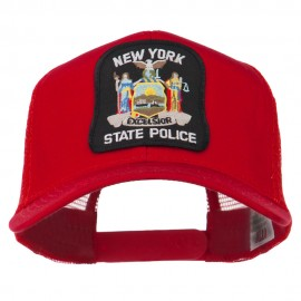 New York State Police Patched Mesh Back Cap - Red