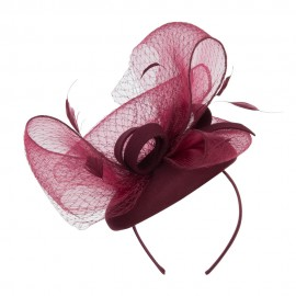 Horsehair Net Crown Fascinator