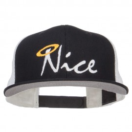 Nice Embroidered Mesh Snapback Cap