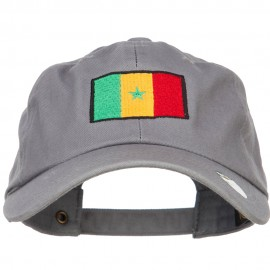 Senegal Flag Embroidered Unstructured Cap