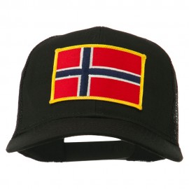 Norway Flag Patched Mesh Cap