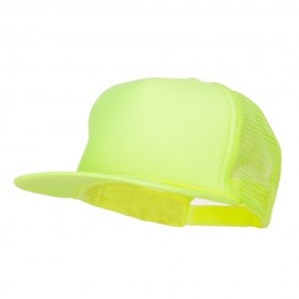 5 Panel Neon Color Poly Mesh Cap - Neon Yellow