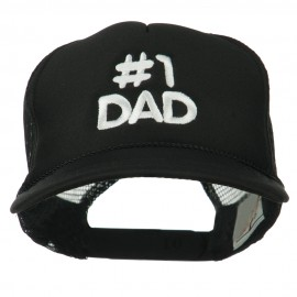 Number 1 DAD Embroidered Youth Foam Mesh Cap