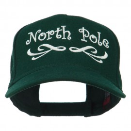 North Pole Christmas Embroidered Cap