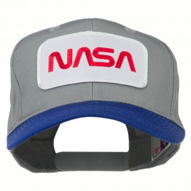 NASA Patched Two Tone Pro Style Cap - Royal Grey