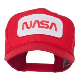 NASA Logo Embroidered Patched High Profile Cap - Red