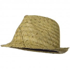Natural Straw Fedora Hat