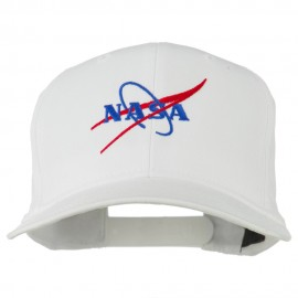 NASA Logo Embroidered Cotton Twill Cap - White