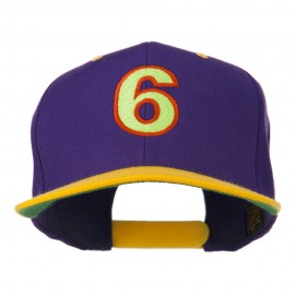 Arial Number 6 Embroidered Classic Two Tone Cap