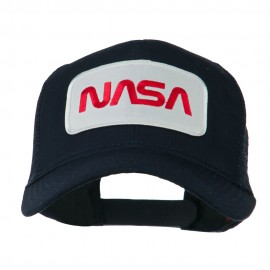 NASA Logo Embroidered Patched Mesh Back Cap - Navy