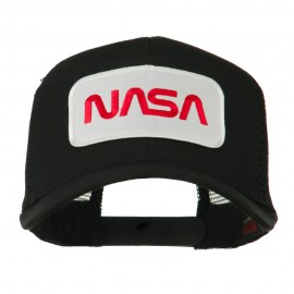 NASA Logo Embroidered Patched Mesh Back Cap - Black