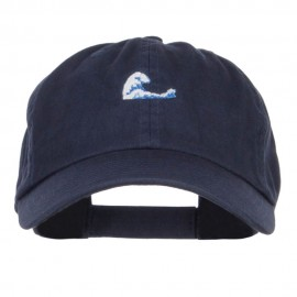 Mini Wave Embroidered Low Cap