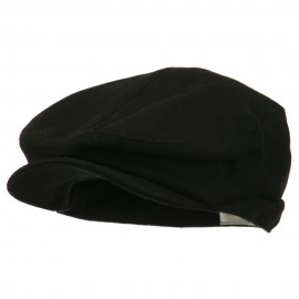 Big Men's Wool Blend Ivy Cap - Black