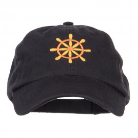 Captain Wheel Logo Embroidered Pet Spun Cap