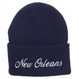 City of New Orleans Embroidered Long Beanie