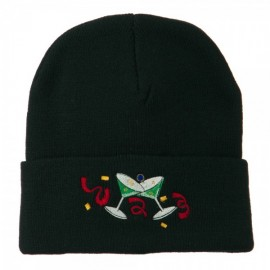Glasses New Years Embroidered Beanie