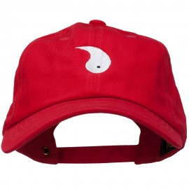 Yang Symbol Embroidered Washed Cap