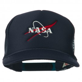 NASA Logo Embroidered Youth Foam Mesh Cap - Navy