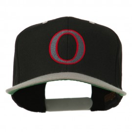 Greek Alphabet OMICRON Embroidered Cap