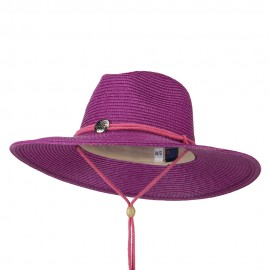 Ladies Toyo Braid Outback Wide Brim Hat