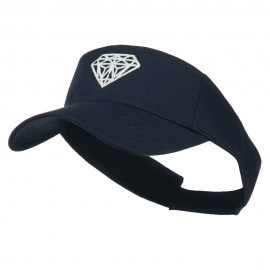 Diamond Outline Embroidered Visor