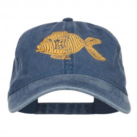 Golden Fish Embroidered Washed Cap