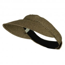 UPF 50+ Tweed Poly Braid Gardening Visor