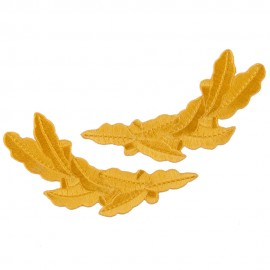 Oak Leaves Emblem Pair - Gold Ace