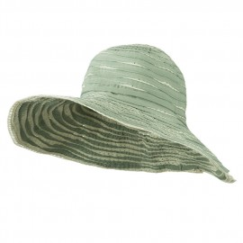 Offset Sprial Sewn Ribbon Brim Hat
