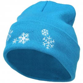 Snowflakes Embroidered Long Beanie