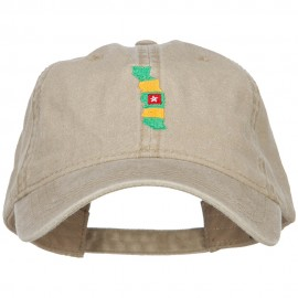 Togo Map Flag Embroidered Washed Cap