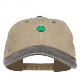 Mini Frog Embroidered Washed Cap