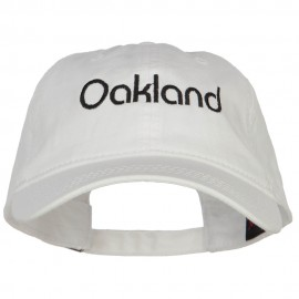 Oakland Embroidered Washed Buckled Cap