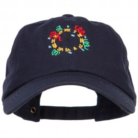 Clock with Decorations Embroidered Unstructured Cap